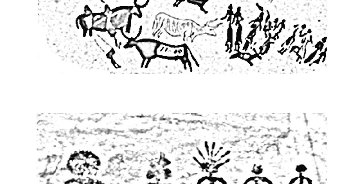 cave paintings coloring pages - photo#17