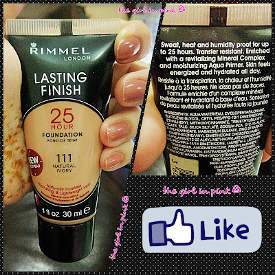 #Rimmel #LastingFinish #25Hour #Foundation - 111 #Natural #Ivory
