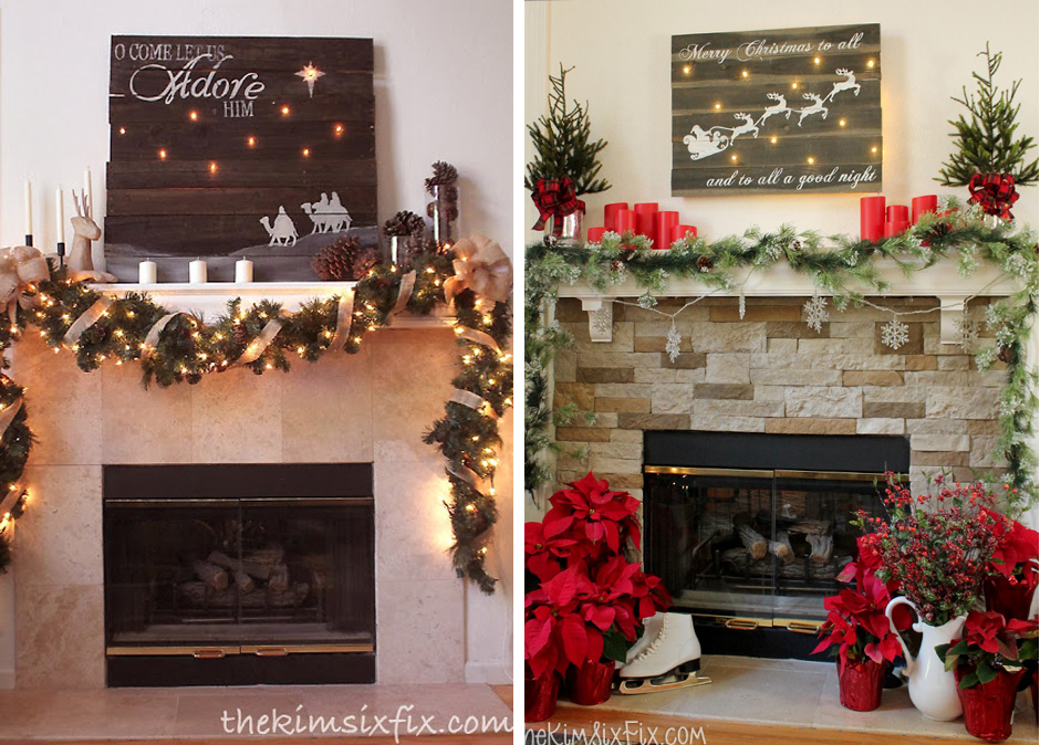 Two different mantels