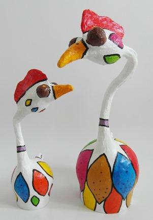 gekleurde  kippen (kl)