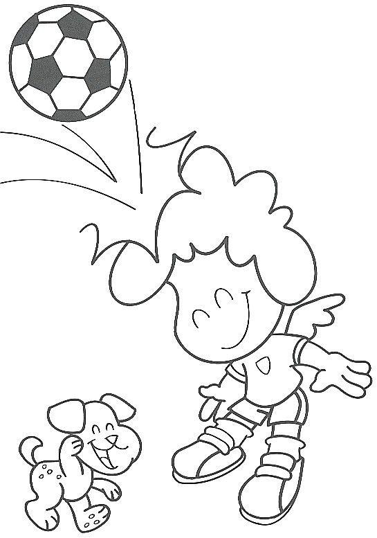 Dominando el balón para colorear