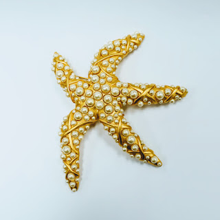 Karl Lagerfeld Large Starfish Brooch