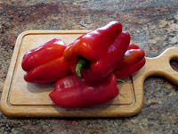 More 'Red Bell Peppers' - top one weighted half a pound.