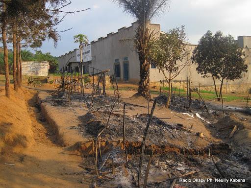 La Prison centrale de Kangwayi, en territoire de Beni (Nord-Kivu) après une attaque des miliciens Maï-Maï. Ph/Radio Okapi