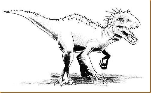 Indominus Rex Jurassic World Pinta Y Colorea