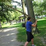 mario trying to slay adam in Malton, Ontario, Canada