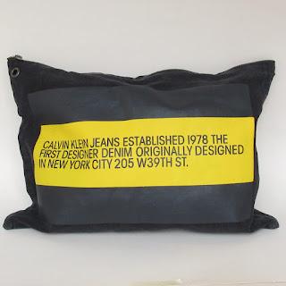 Calvin Klein 205W39NYC Oversized Black Denim Pouch