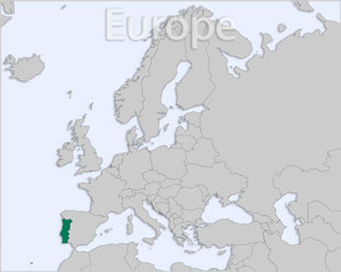 Portugal location map