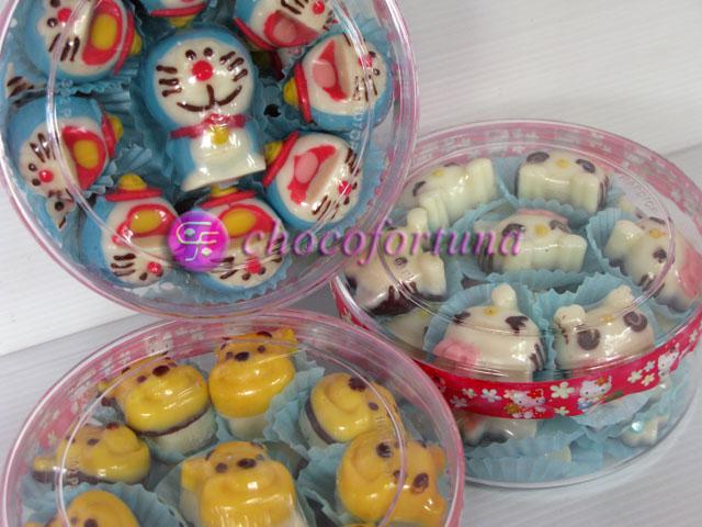Coklat Doraemon Pooh HKitty