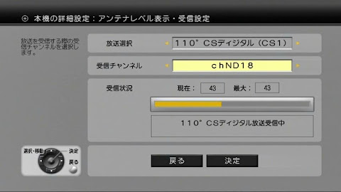 ND18受信レベル(2013/2/11)
