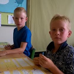 de eerste schooldag in 3B
