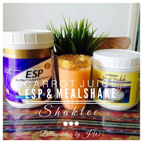 Carrot Juice ESP & Mealshakes Shaklee