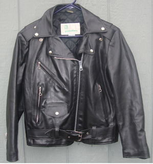 Leather jacket thrift store – Modern fashion jacket photo blog