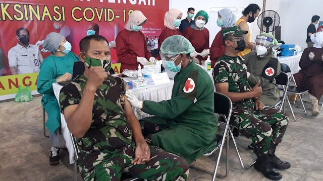 Anggota Kodim Palangka Raya Jalani Vaksinasi Tahap Kedua