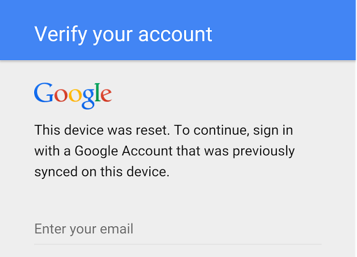 Remove Google Factory Reset Protection (FRP)