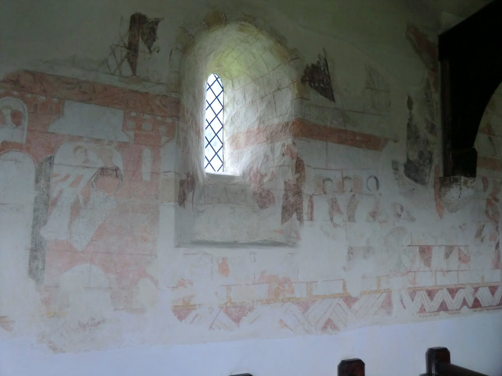 CIMG1603 Wall painting, Capel church