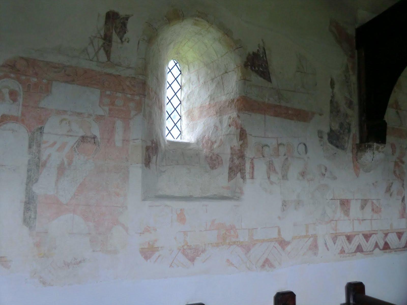 CIMG1603 Wall painting, Capel church