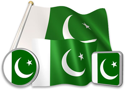 Pakistani flag animated gif collection
