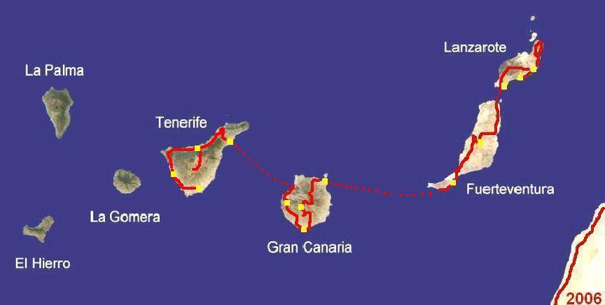 Routen-Karte Kanarische Inseln