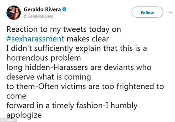 geraldo explanation apology tweet