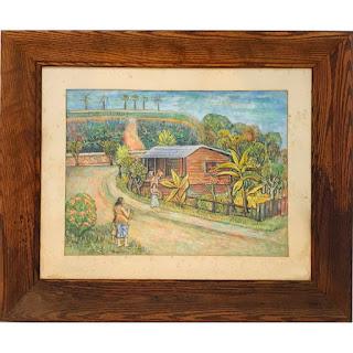 Martin Rosenthal Signed Village Scene Painting