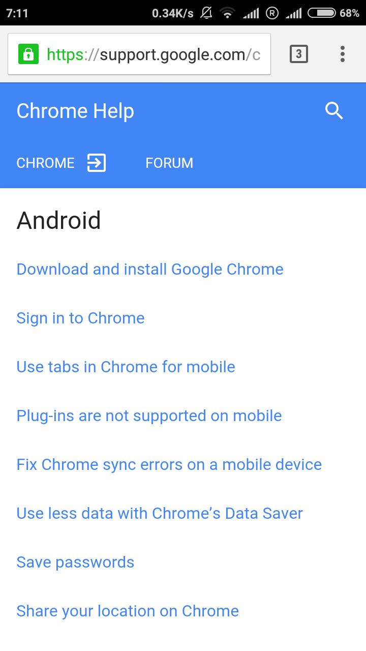 chrome forum