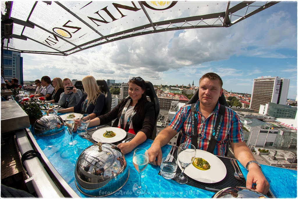 Dinner In The Sky, Tallinn 2014.08.15 / foto: Ardo Säks, www.vabaaeg.eu