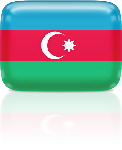 Azerbaijani flag clipart rectangular