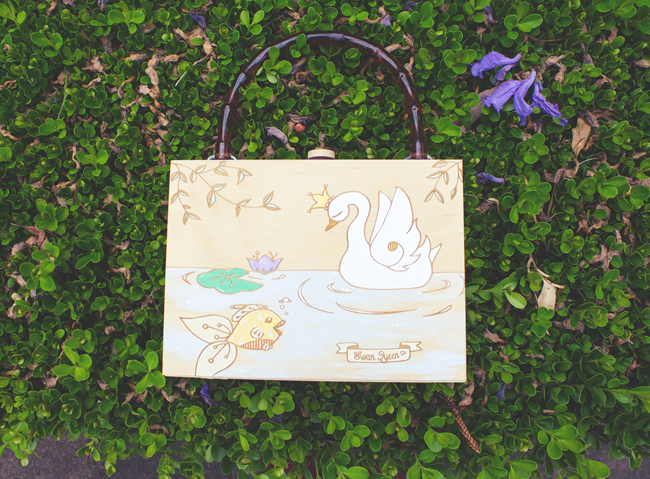 """Swan Queen"" Boxy-Bag by Teacup Girl Art 