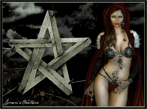 Wicca Fantasy Girl Blinking, Wicca Girls