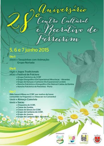 Programa - 28º Aniversário - Centro Cultural e Recreativo de Ferreirim
