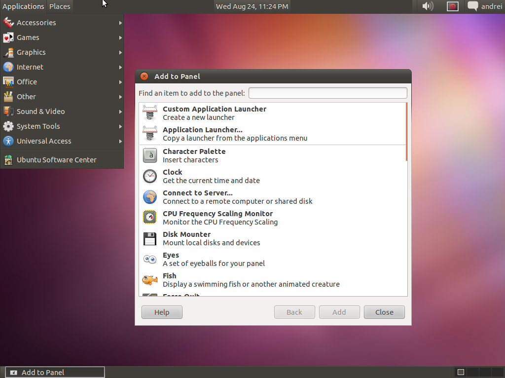 Installing / Using Classic GNOME Desktop In Ubuntu 11 10