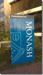 Sign for Monash University