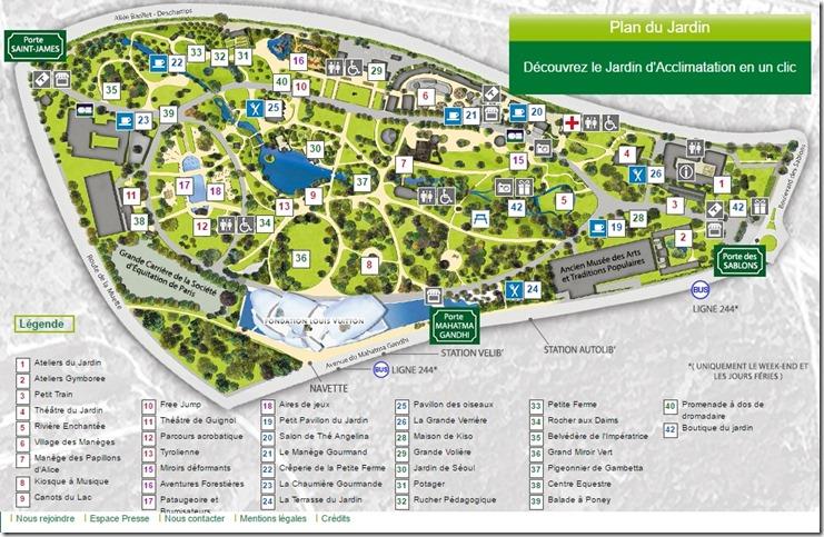 jardin d'acclimatation plan