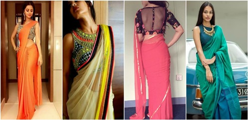 Mystylespots  How to Style a Plain Saree d35bb58788