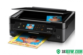 How to reset flashing lights for Epson XP-400 printer