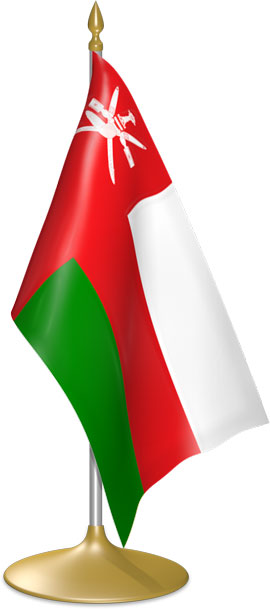 Omani table flags - desk flags