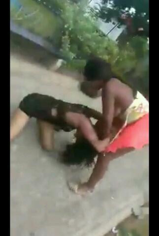 Black girls strip fight