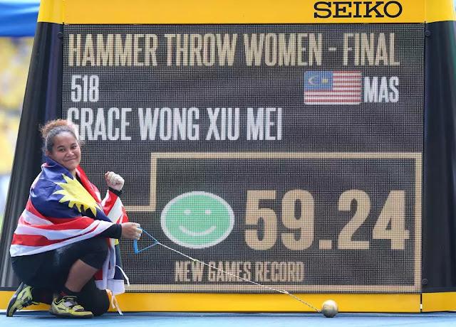"""Olahraga: """"Ini untuk mu,Ibu"""" Kata Grace Xiu"""