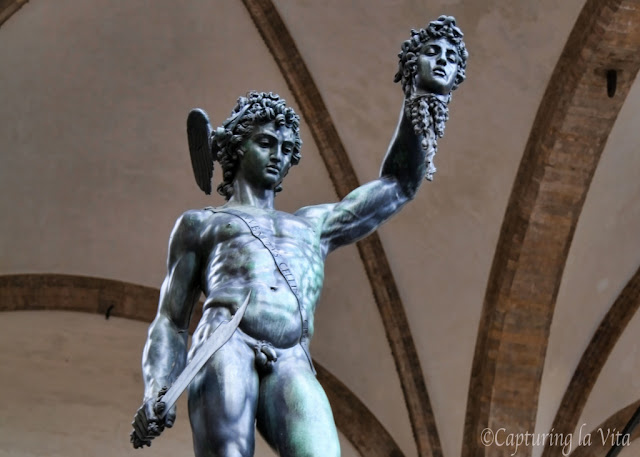 Cellini's Perseus. From  More Secrets of Florence: Naked Debtors And Michelangelo's Graffiti