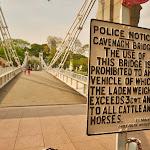 Bydłu i koniom wstęp na most wzbroniony!