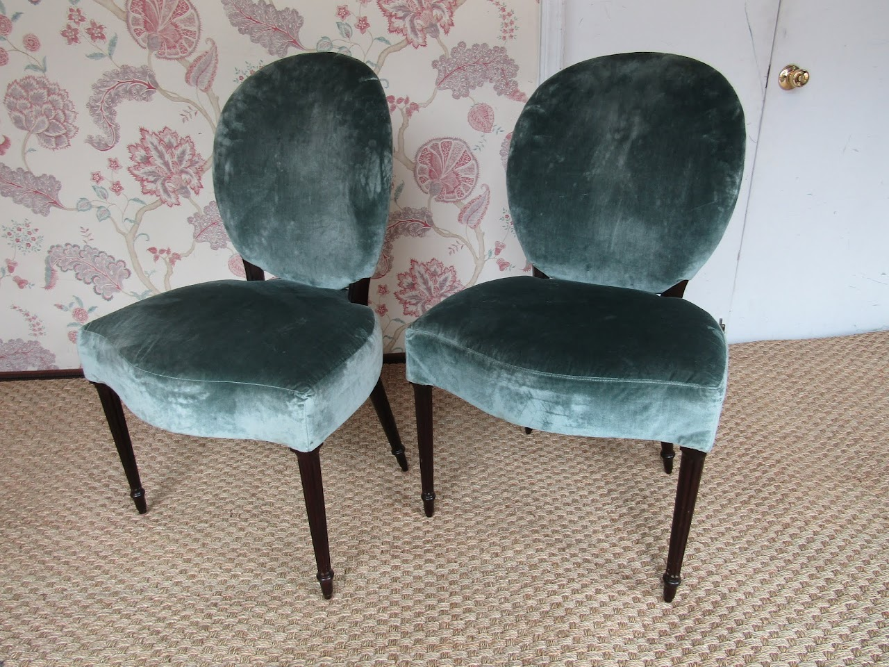 Velvet Chair Pair