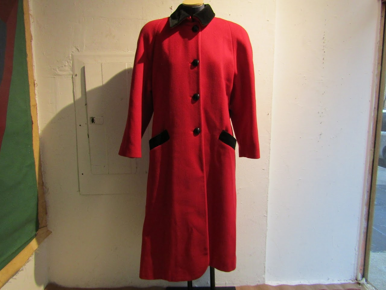 Vintage Christian Dior Full-length Wool Coat