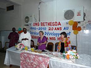 Photo: Cest le 20 ème anniversaire de la création de l'hôpital Béthesda qui a reçu tout le matériel du CTM nécessaire à ses multiples services et ses 150 employés spécialisés.
