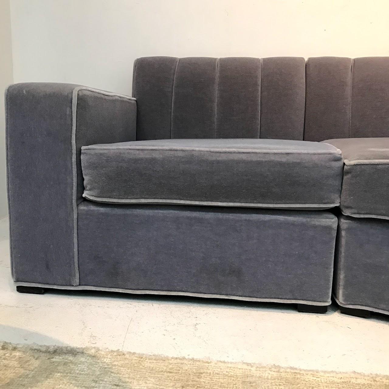Superb Lilac Mohair Curved Sectional Sofa Shophousingworks Ibusinesslaw Wood Chair Design Ideas Ibusinesslaworg