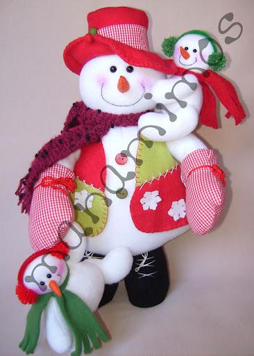muñeco de nieve con moldes de la web 06