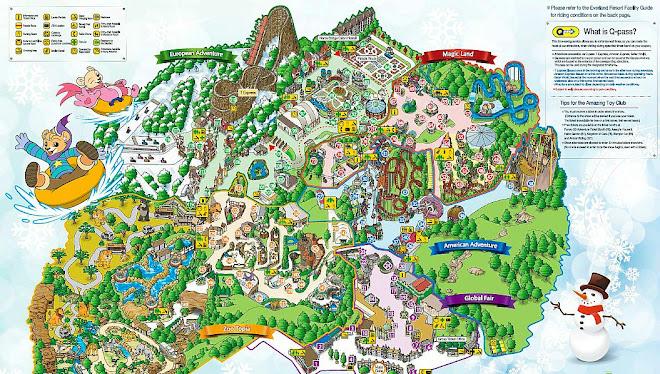 Peta Everland yang terdiri dari beberapa zona, Klik Untuk Perbesar