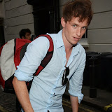 WWW.ENTSIMAGES.COM -       Eddie Redmayne sighted at  Meard street London August 8th 2013                                                    Photo Mobis Photos/OIC 0203 174 1069