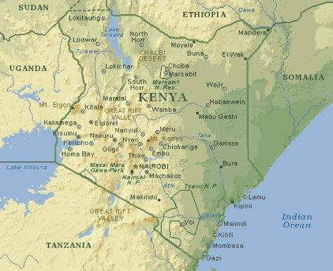 TOTAL FACTS ABOUT KENYA 7 Pictures of Kenya Map