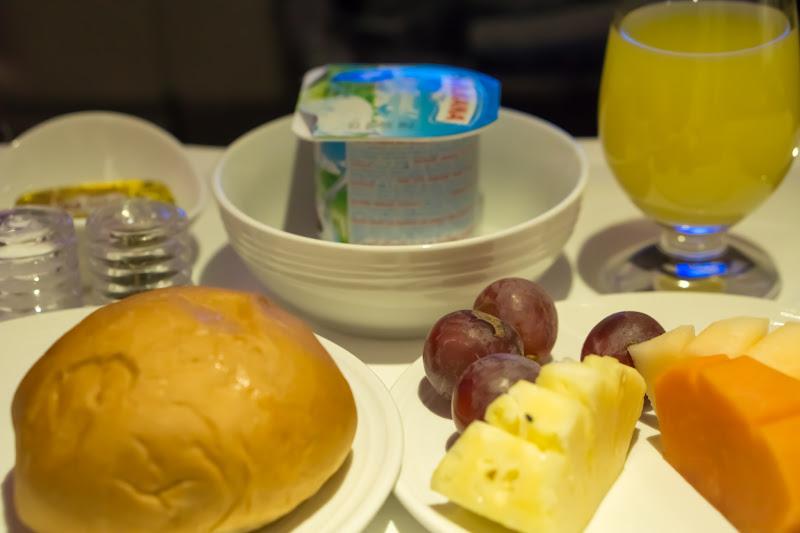 マレーシア航空 ビジネスクラス 機内食 朝食